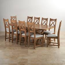 Extendable Dining Table Seats 10 Hercules Dining Set In Rustic Oak Extending Table 10 Chairs