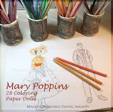 mary poppins coloring pages 28 printable digital download