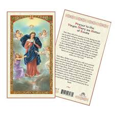 prayer card untier of knots laminated prayer card the catholic
