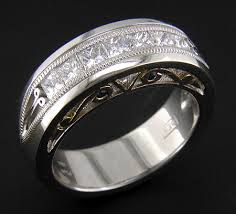 custom wedding ring platinum 18kt gold and diamond custom wedding ring bijoux
