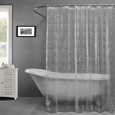Pictures Of Shower Curtains In Bathrooms Plastic Eav Embossing Semi Transparent Waterproof Thicken Shower