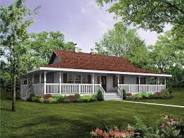 Country Style House by Ranch House With Wrap Around Porch And Basement House Plans