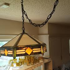 vintage hanging light fixtures antique tiffany style ls collectors weekly