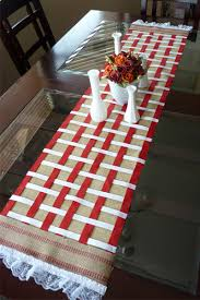 make your own table runner diy no sew burlap table runner