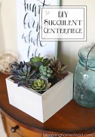 diy succulent diy succulent centerpiece blooming homestead