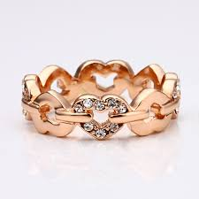 aliexpress buy fashion big size 18k gold plated men aliexpress buy wholesale 18kgp rhinestone heart ring 18k