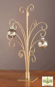 ornament trees gold metal ornament stand glass