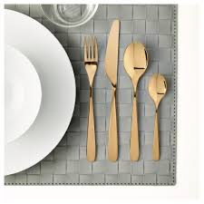 tillagd 24 piece cutlery set brass colour ikea ikea tillagd 24 piece cutlery set