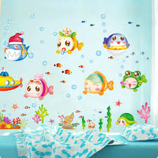 diy underwater world of fish bubbles cartoon cute wallpaper see larger image