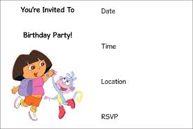 dora the explorer birthday invitations templates