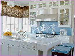 Blue Glass Kitchen Backsplash - Blue glass tile backsplash
