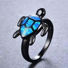 fire opal rings images Unique turtle blue fire opal rings blenfy store jpg