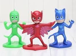 pj masks catboy owlette playset 3 figure cake topper usa seller