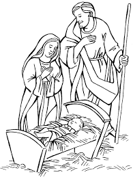 nativity scene coloring page get coloring pages
