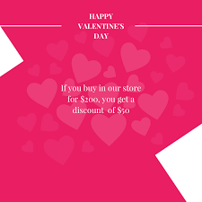 you it you buy it s day heart happy s day sale flyer template with hearts designbold