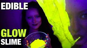 how to make edible glow in the dark uv slime diy tutorial