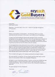 ezycash gold buyers apology letter gold smart