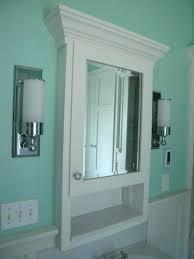 Recessed Bathroom Medicine Cabinets Recessed Vanity Mirror Cabinet Upandstunning Club