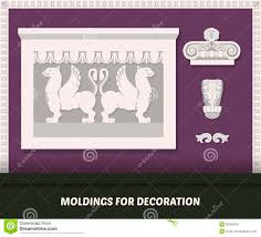 vector molding elements for decoration classic molding on purple