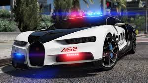 police car bugatti chiron pursuit police add on replace template