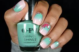 diy professional spring gradient nail art using opi infinite