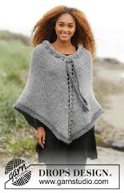 drops design poncho cozy cover drops 173 32 free knitting patterns by drops design