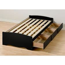 Platform Bed Frame With Storage Plans by Bed Frames Diy Twin Platform Bed How To Build A Captains Bed