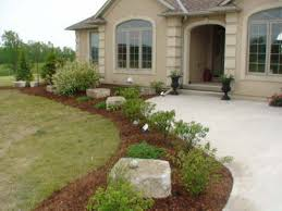 landscaping ideas with rocks front entrance landscaping plans