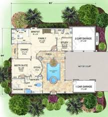 villa palladian italian house plan courtyard house plan