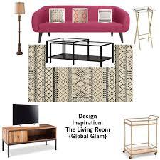 design inspiration the living room global glam studio style blog