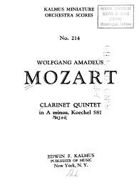 quotes about music on piano clarinet quintet in a major k 581 mozart wolfgang amadeus