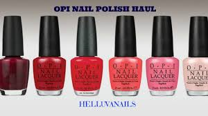 opi nail polish haul youtube
