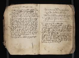 thick writing paper iron gall ink traveling scriptorium commonplace book probably late 16th or 17th century osborn b234 f 22v