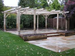 Garden Pergolas Ideas Exterior Unfinished Wooden Patio Pergolas Design Ideas Combine