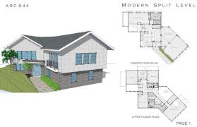 split plan house modern house plans split level