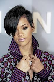 black people short hair cut with part down the middle widescreen rihanna short wavy for smartphone full hd pics black