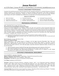 Resume For Summer Internship Financial Advisor Resume Job Description Financial Advisor Resume