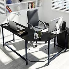 metal computer desks workstations tribesigns modern l shaped desk corner computer desk pc latop study