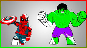 lego hulk and spiderman coloring page let u0027s color part 2