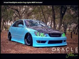 oracle 98 05 lexus is200 is300 led halo rings headlights bulbs