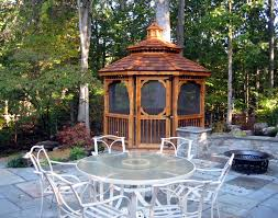 Small Gazebos For Patios by Lawn U0026 Garden Decoration For Garden Come Brown Laminated Wooden