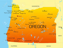 map of oregon vector color map of oregon state usa royalty free cliparts