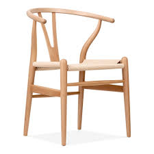 Hans Wegner Style Wishbone Chair In Natural Wood Cult Furniture - Hans wegner chair designs