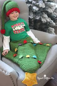 crochet christmas tree tail blanket repeat crafter me