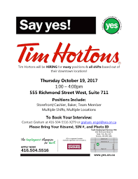 tim hortons open on thanksgiving youth employment services yes