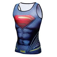 Marvel Super Heroes Clothing 3d Marvel Superhero Superman Costume Compression T Shirt Gym