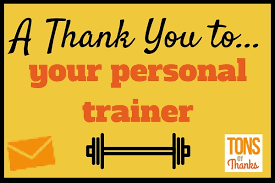 write your personal trainer a thank you note exles included