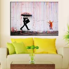Art Colorful Rain Wall Canvas Wall Art Living Room Wall Decor - Living room wall decoration