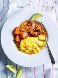 poisson cuisiner ragoût de poisson au curcuma patates douces et carottes ricardo