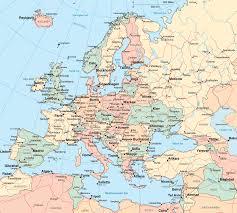 ауто карта Европе